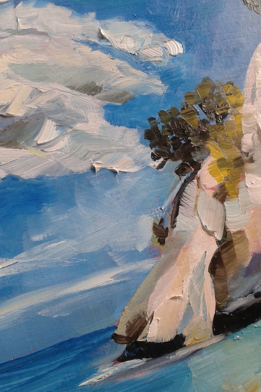 Cathedral Cove - original oil painting, by Vicky Curtin