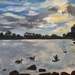 Hamilton Lake - small original oil painting, by Vicky Curtin