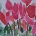 Pink Cyclamens - original watercolour painting, by Vicky Curtin