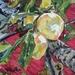 Luisa Plum - small original oil painting, by Vicky Curtin