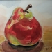 Pear No. 2 - original watercolour painting, by Vicky Curtin