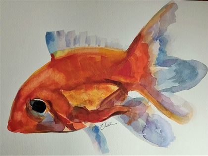 Goldfish - original watercolour painting by Vicky Curtin