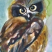 The Observer - original owl watercolour painting, by Vicky Curtin