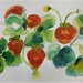 Strawberry Patch - original watercolour painting, by Vicky Curtin