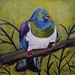 Kereru Wood Pigeon, oil painting by Vicky Curtin