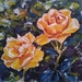 Orange roses - Original Oil Painting, by Vicky Curtin