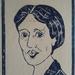 Virginia Woolf - Original linocut print