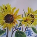 Sunflowers - original watercolour, by Vicky Curtin