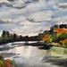 Waikato River - Original Watercolour, by Vicky Curtin.