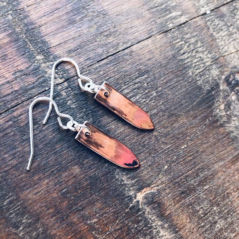 Burnt Copper Earrings