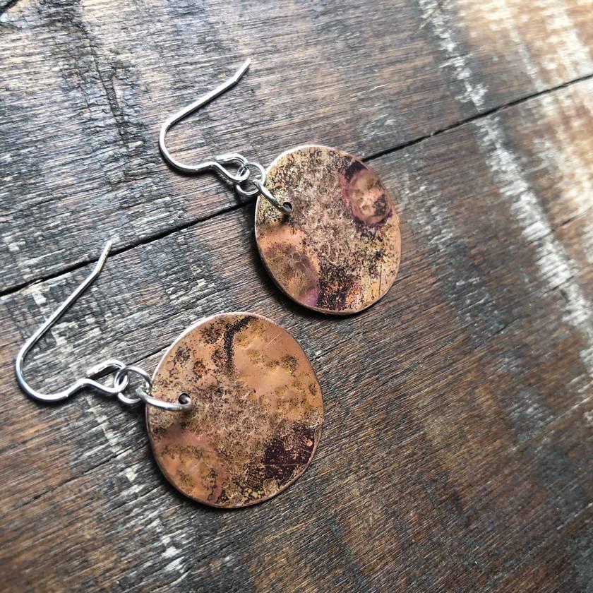 Burnt Copper Earrings
