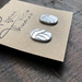 Handcrafted Silver Studs