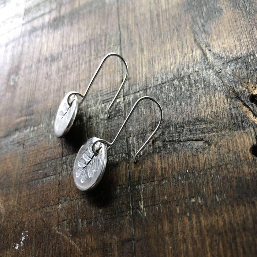 Kowhai Leaf Earrings