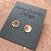 Handcrafted Burnt Copper Earrings