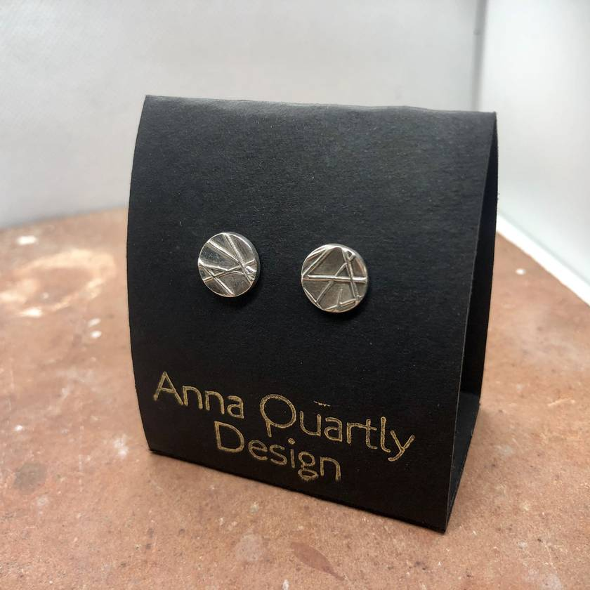 Abstract Lines Silver Earrings