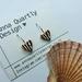 Copper Scallop Shell Heart Earrings