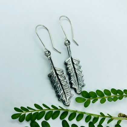 Kowhai Leaf Sterling Silver Earrings