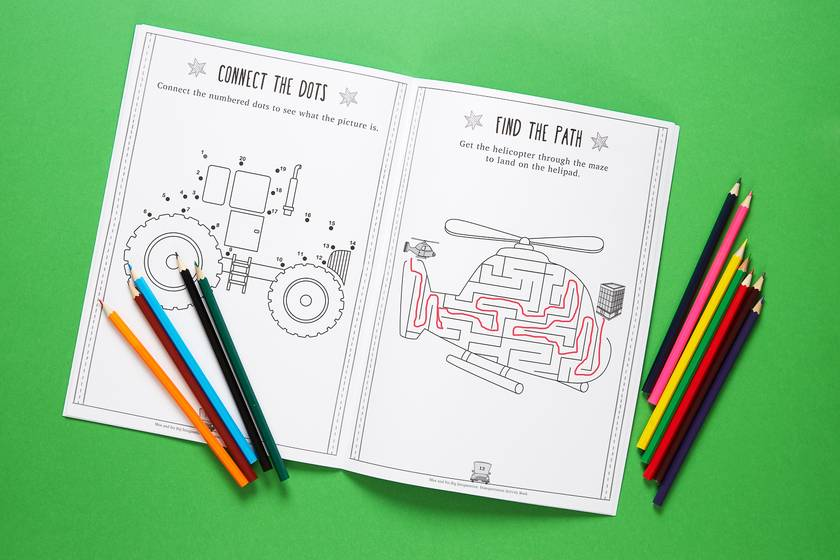 Max and his Big Imagination - Activity Transportation Book