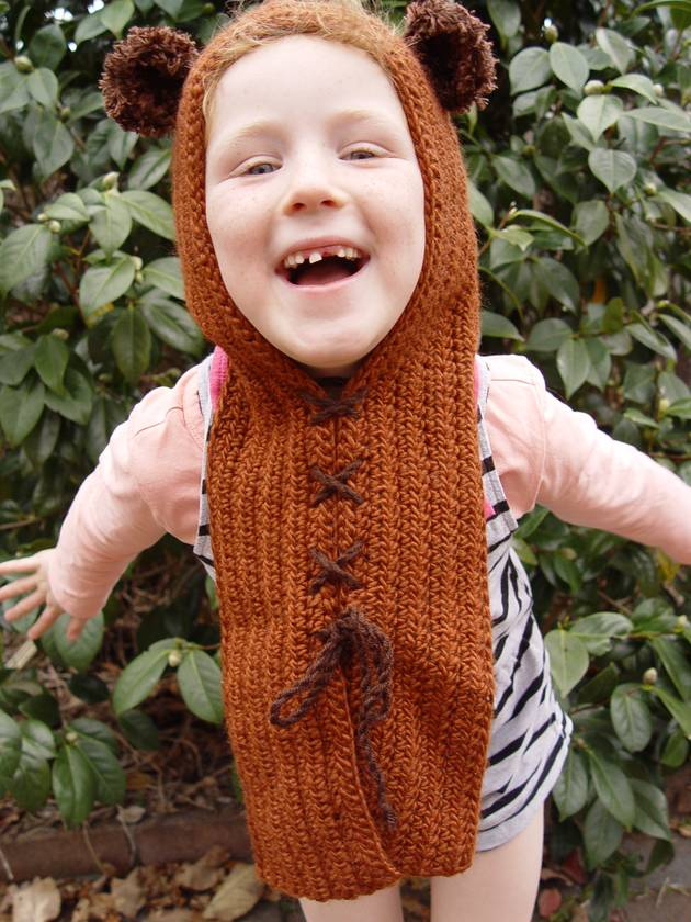 Star Wars inspired Toddler Hooded Cowl with ears