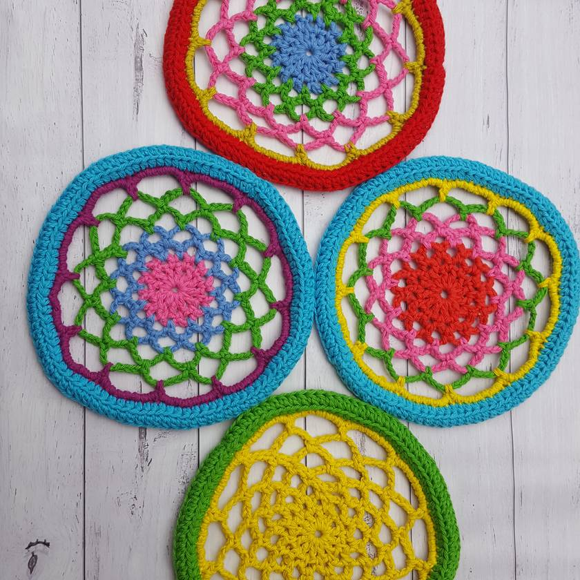 Crocheted Frisbees 100% Cotton