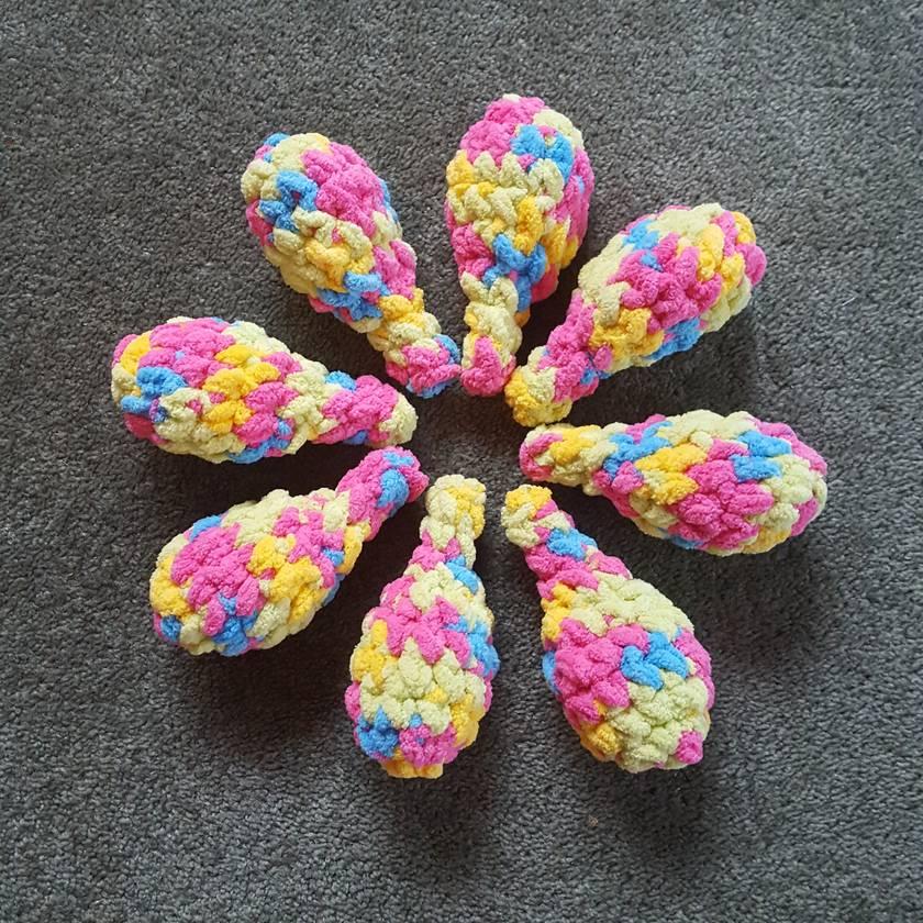 8 Reusable Crochet Water Balloons