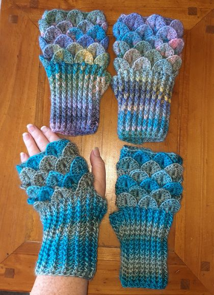 Mermaid Mitts (Fingerless)
