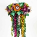 Colourful hand made paper chandelier