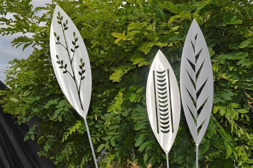 """Rise & Shine"" Aluminium garden sculptures"