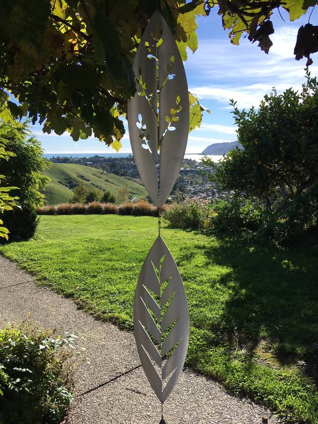 """Swivel & Shine"" Spinning Aluminium garden sculptures"
