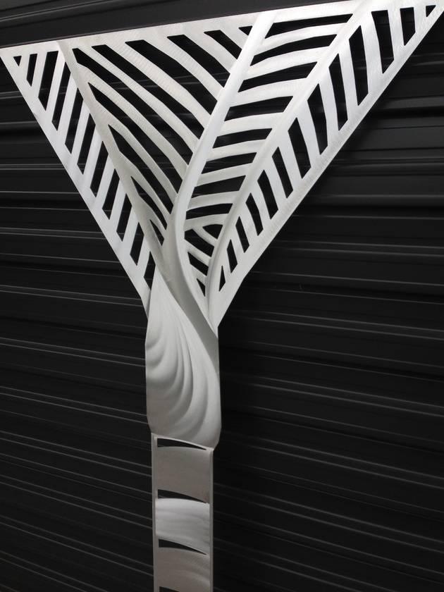 Shiny Aluminium Nikau Wall Art