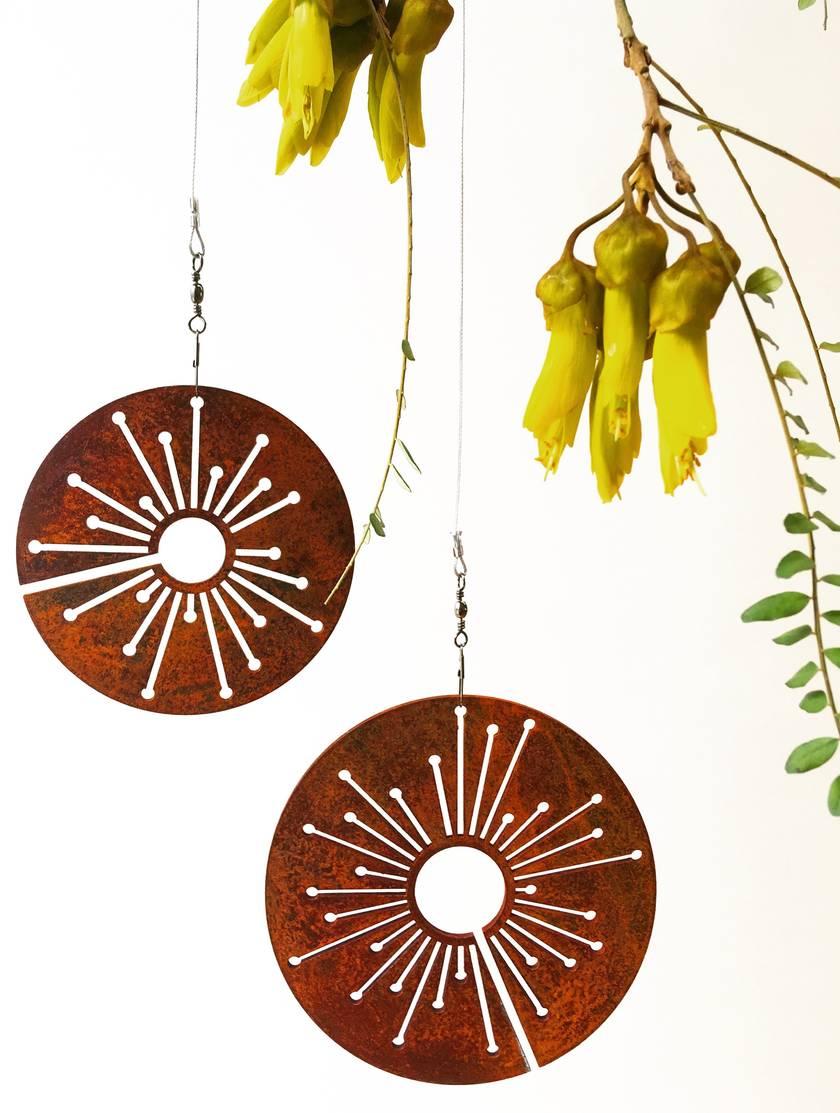 Corten spinning Alliums - FREE NZ WIDE DELIVERY