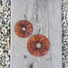 Corten spinning Allium 125mm