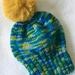 Wool Pom Pom Hat - 6-12 months