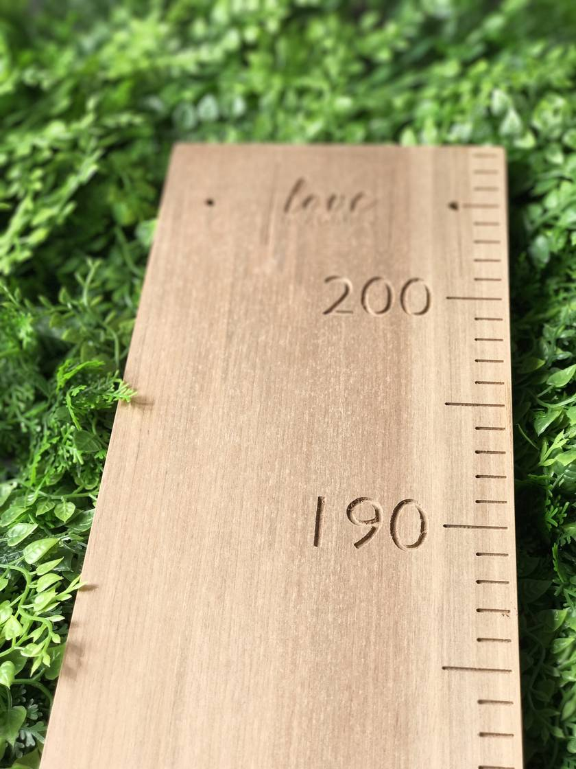 Original Height Chart | Not Personalised | Natural Rimu Finish