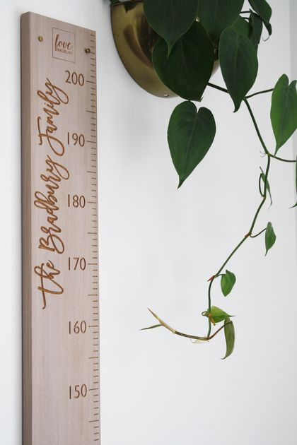 Original Height Chart | Personalised | Whitewash Finish