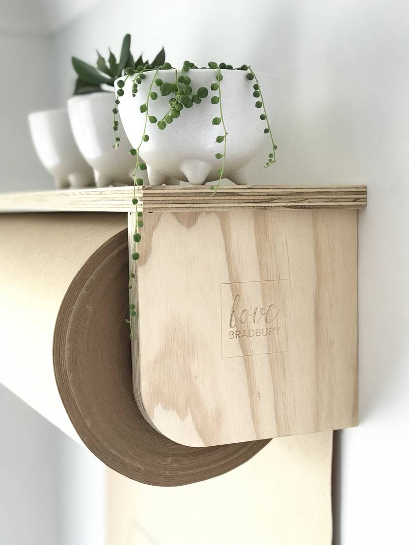 Plywood Paper Roller with shelf (600mm)