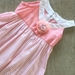 Cotton Apricot Dress with Tulle Flower