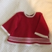 Wool  Dress  Red with With White trim  0-3 months