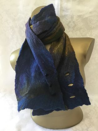 Nuno silk and merino scarf