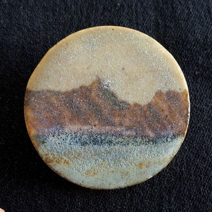 Seascape - Ceramic Brooch