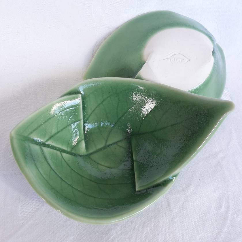 Set of Two Small Leaf Bowls