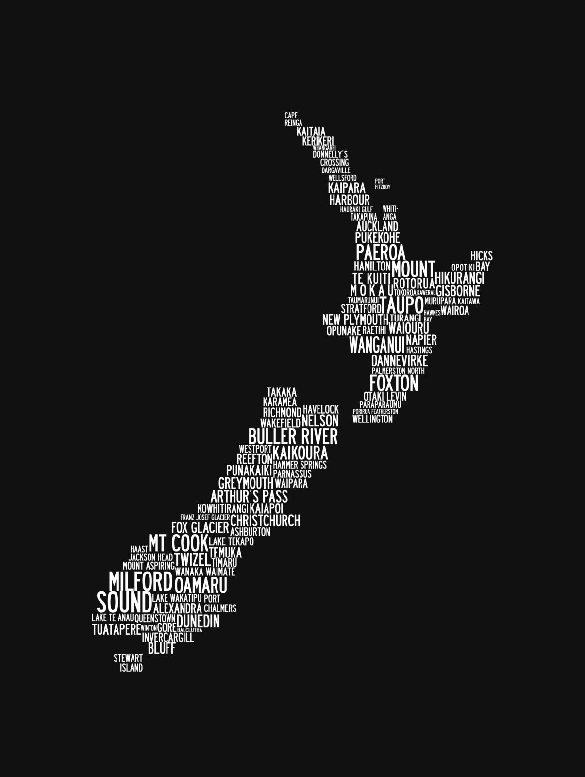 Kiwi Word Map Felt