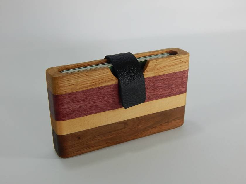 Handmade wooden wallets