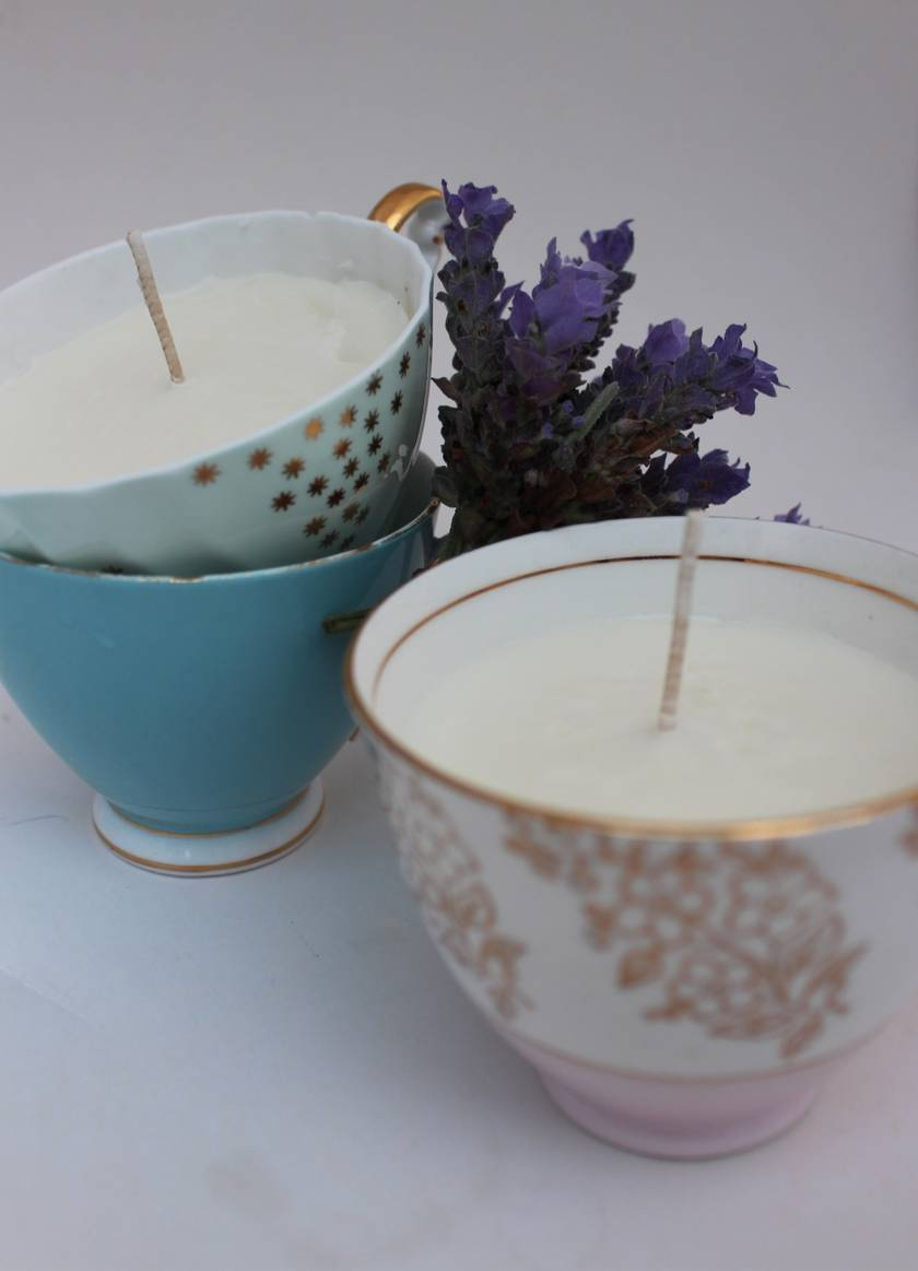 Make Your Own Soy Candle in a Teacup