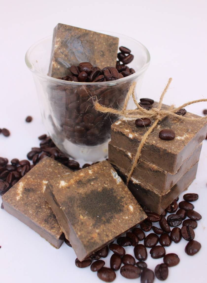 Make your own Coffee Oatmeal Exfoliating Bars