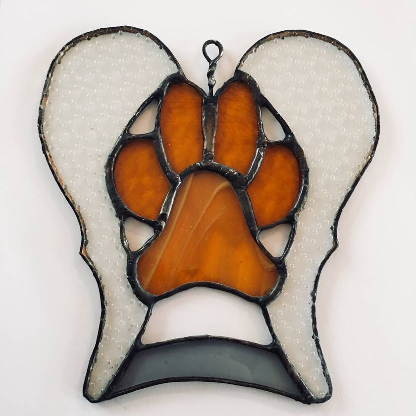 Dog Memorial Stained Glass