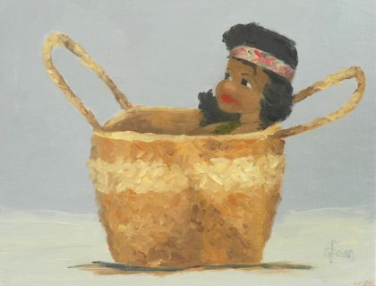 "6in by 8in - Print ""Little Wahine"" (from original oil painting)"