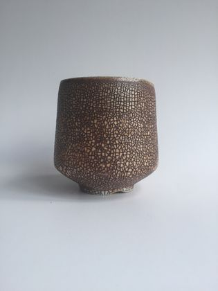 Wood Fired Stoneware:  Crackle Tumbler 3