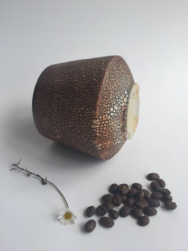 Wood Fired Stoneware:  Crackle Tumbler 4