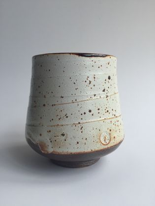 Wood Fired Stoneware:  Speckled Tumbler 1
